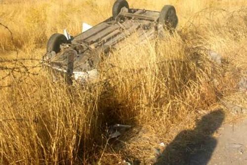 حادثه رانندگی برای بازیگر «نون. خ» + عکس
