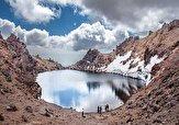 باشگاه خبرنگاران -دریاچه زیبا و منحصربه فرد قله سبلان در اردبیل + فیلم