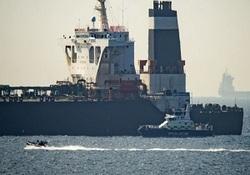 نفتکش گریس ۱ در حال ترک جبلالطارق است