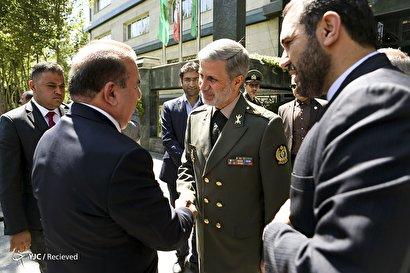 دیدار امیر حاتمی با وزیر کشور عراق