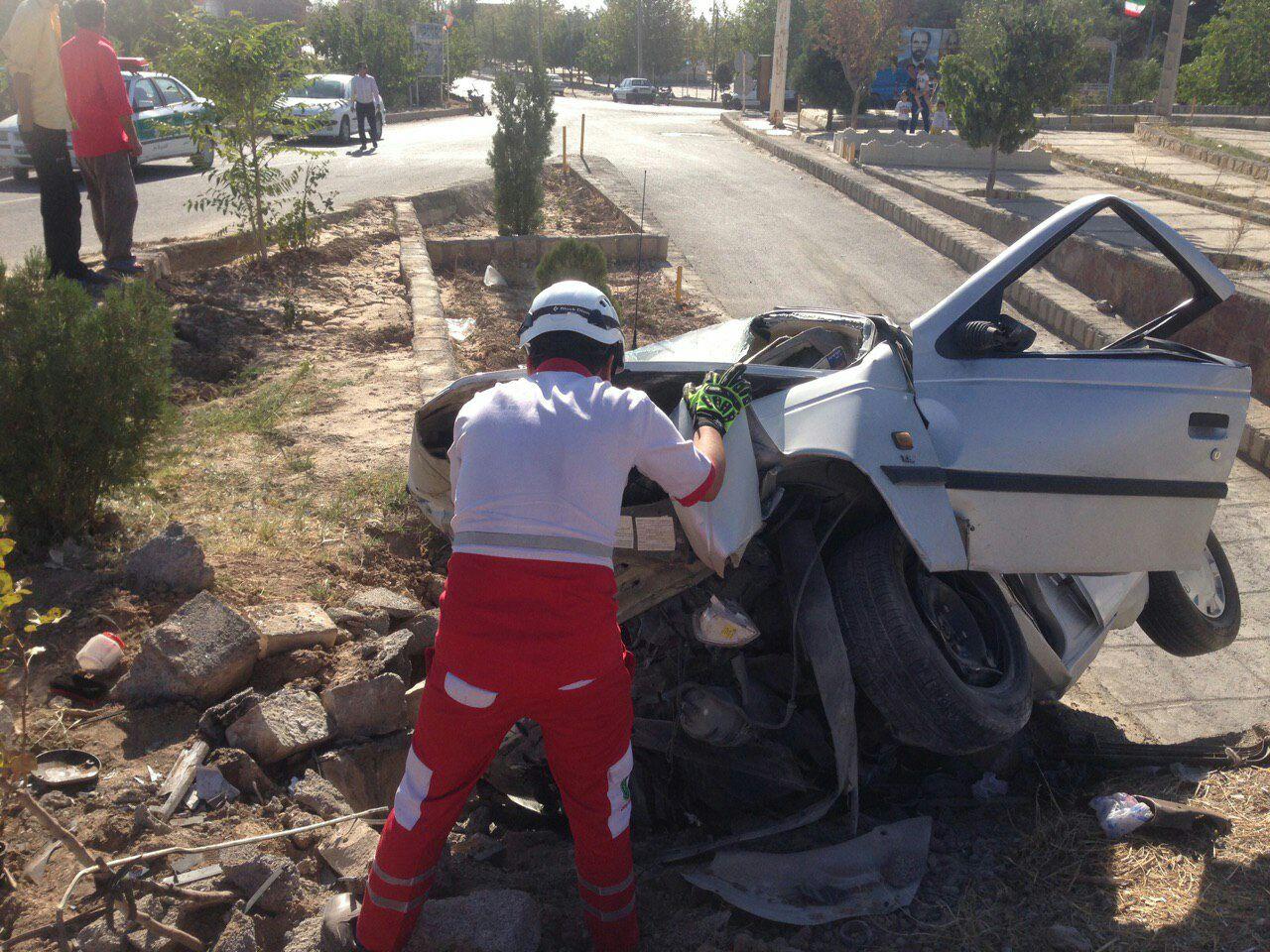 یک کشته و دو مصدوم در حادثه سانحه رانندگی بجستان/