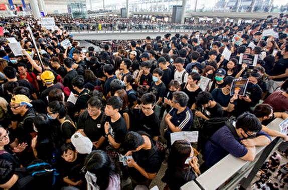 باشگاه خبرنگاران -ویدیوی منتشر شده از تظاهرات امروز هنگ کنگ