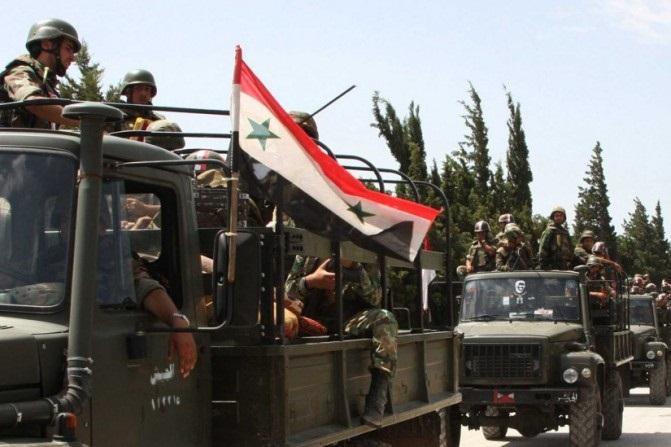 ورود ارتش سوریه به شهر خان شیخون در استان ادلب