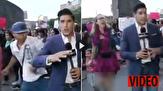 باشگاه خبرنگاران -کوبیدن مشت به صورت خبرنگار همزمان با تهیه گزارش زنده تلویزیونی! + فیلم