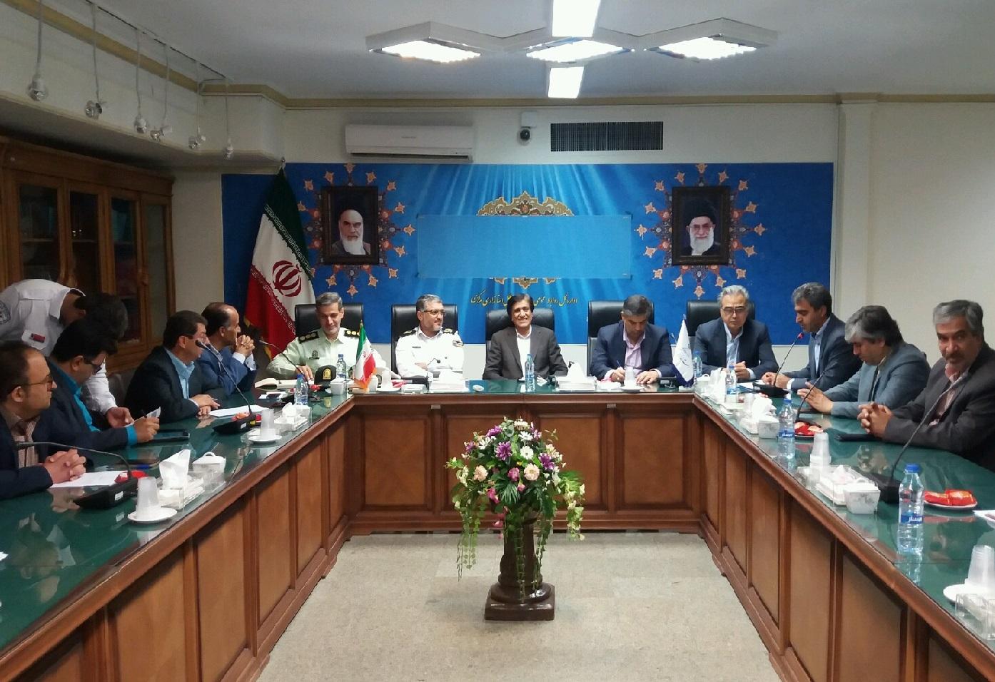جلسه شورای راهبری ترافیک استان مرکزی با حضور رئیس پلیس راه کشور