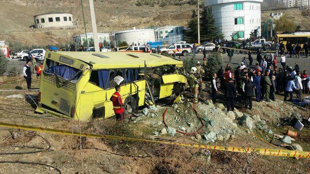 صدور حکم پرونده حادثه سقوط اتوبوس در دانشگاه آزاد