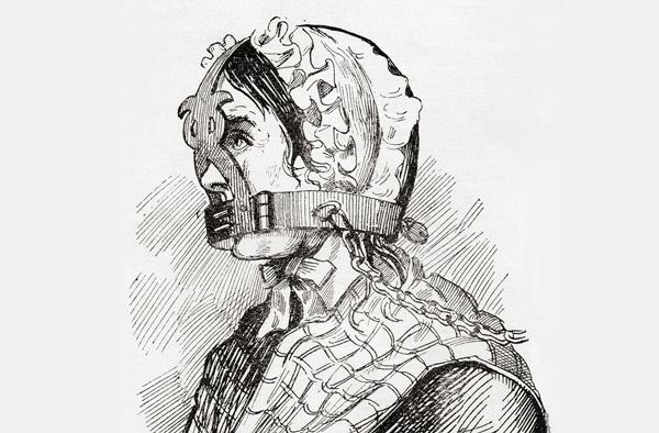 تنبیه وحشیانه زنان پُرحرف و غرغرو در قرون وسطی