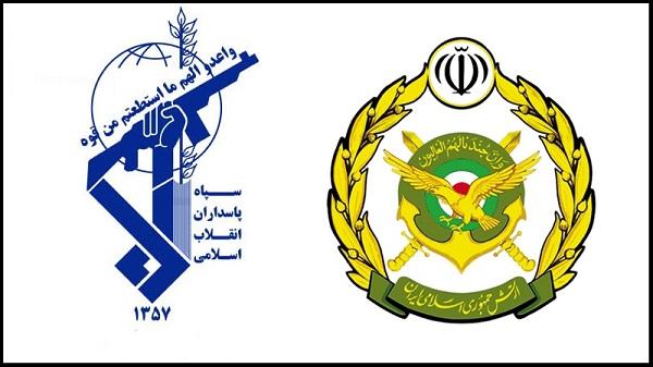 احترام نظامی سپاهی به ارتشی +تصویر