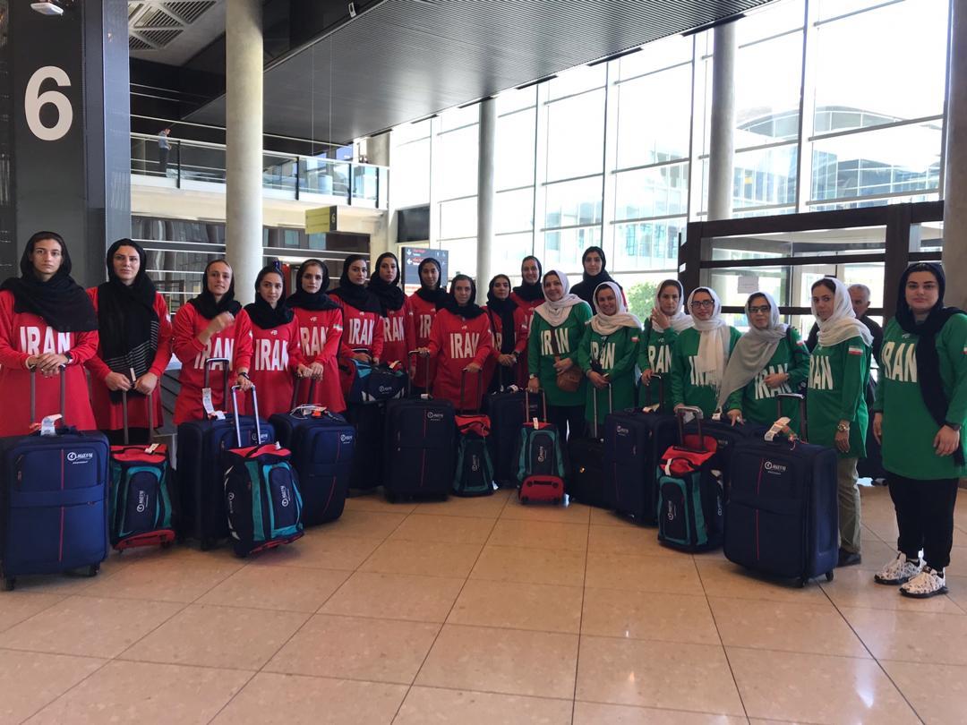 تیم ملی بسکتبال بانوان به اردن رسید