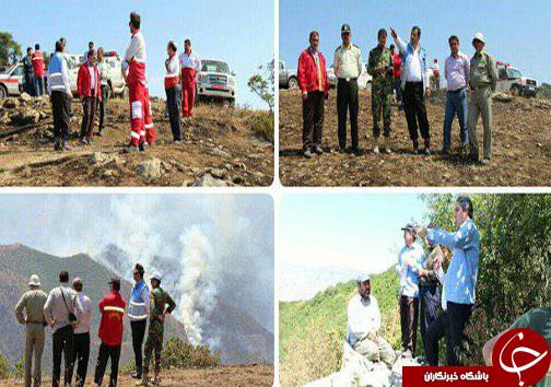 جنگل های ارسباران در آتش می سوزد/۳۰۰ هکتار از مراتع طعمه حریق شد/ آتش در حال پیشروی است + تصاویر