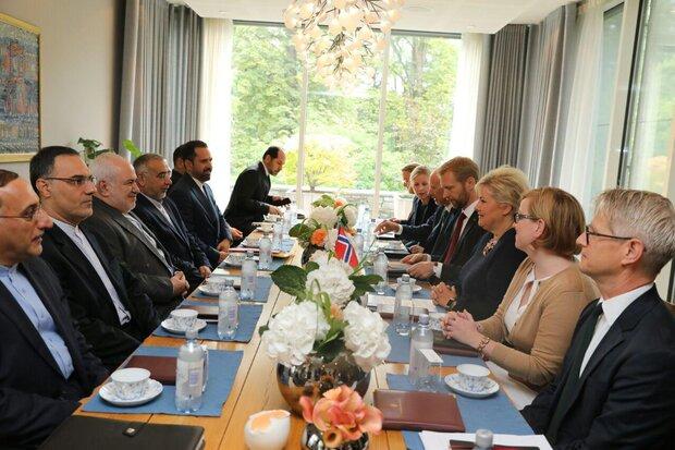 رایزنی ظریف با نخست وزیر نروژ