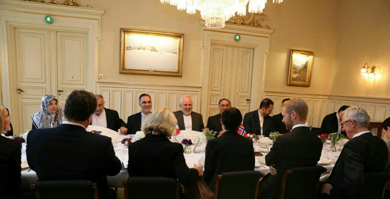 ظریف با همتای نروژی خود دیدار کرد