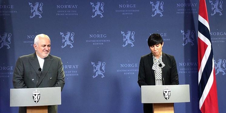 وزیر خارجه نروژ: درباره مسائل منطقه و برجام با یکدیگر گفتگو کردیم/ ظریف: درباره اسلام هراسی و حقوق بشر در اروپا نگران هستیم