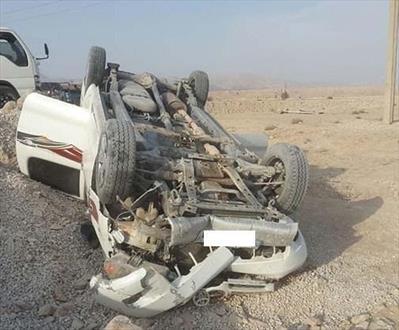 واژگونی خودور تویوتا حامل اتباع بیگانه در محور سراوان / ۲۰ نفر مجروح شدند