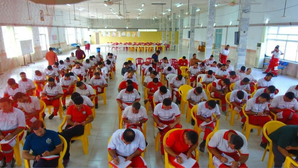 دورههای آموزشی مهارتی ویژه تیمهای واکنش سریع کشور به میزبانی هلال احمر گیلان در حال برگزاری است