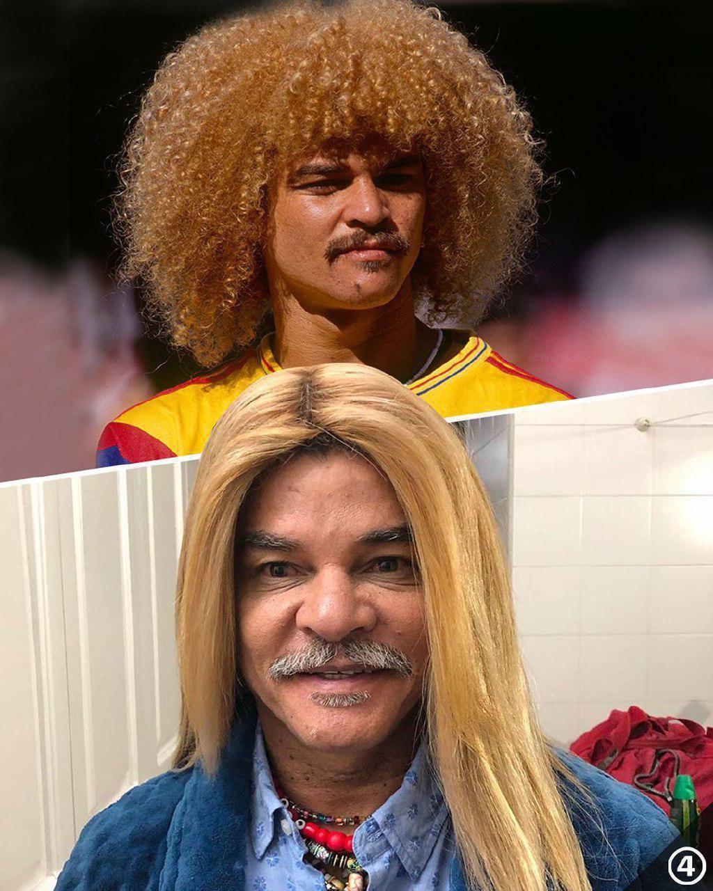 مدل موی عجیب و غریب ستاره کلمبیایی + عکس