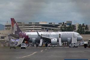 هواپیمای شرکت هاوایی در آمریکا مجبور به فرود اضطراری شد