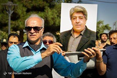 تشییع پیکر ناصر احمدی؛ گوینده پیشکسوت