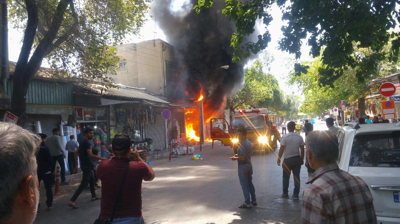 کشته شدن یک نفر در آتش سوزی + تصاویر