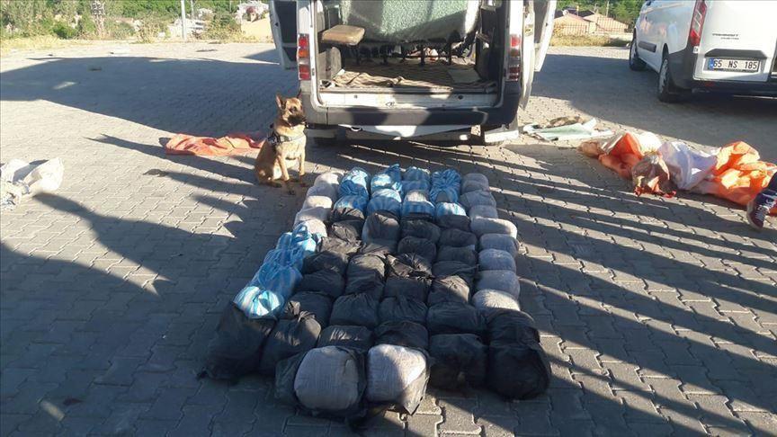 کشف ۳۴۲ کیلوگرم هروئین در استان وان ترکیه