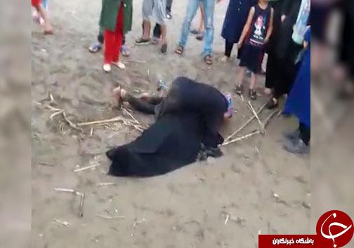 نقاشی مرگ روی شنهای ساحل دریا + فیلم