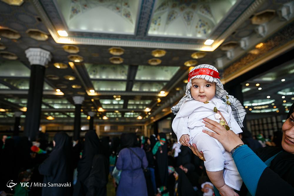 مصلای امام خمینی (ره) میزبان خانوادهها در اجتماع شیرخوارگان عاشورایی