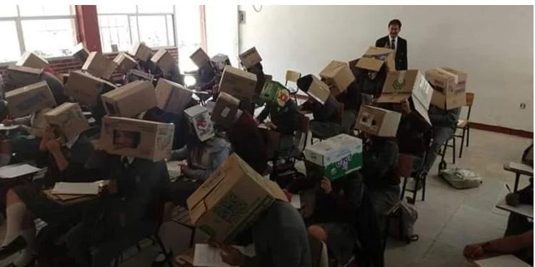 روش جنجالی معلم برای ممانعت از تقلب دانش آموزانش+تصاویر