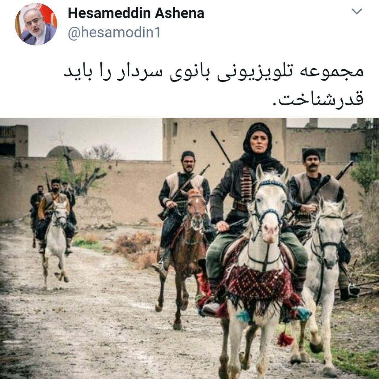 تمجید مشاور رئیس جمهور از سریال «بانوی سردار» +عکس