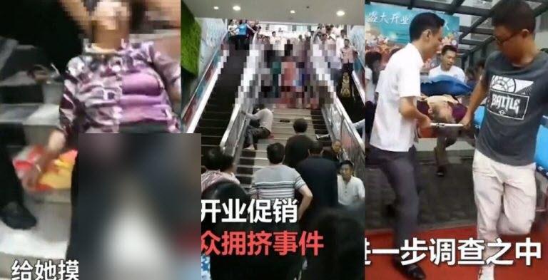 وقوع حادثه وحشتناک هنگام افتتاح فروشگاه برای مشتریان! + فیلم///
