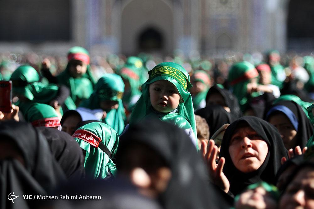 برگزاری باشکوهترین محفل شیرخوارگان حسینی در حرم رضوی