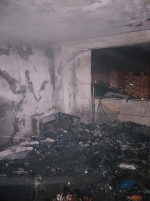 آتش سوزی ساختمان ۱۴ طبقه در شهرک امید بر اثر نشت گاز/ مصدومیت زن ۶۰ ساله در حادثه + عکس