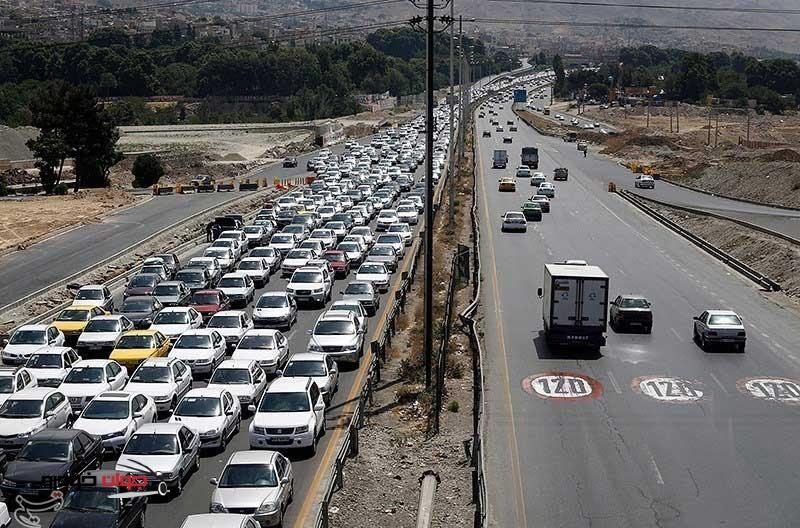 افزایش بار ترافیکی در روزهای پایانی تابستان