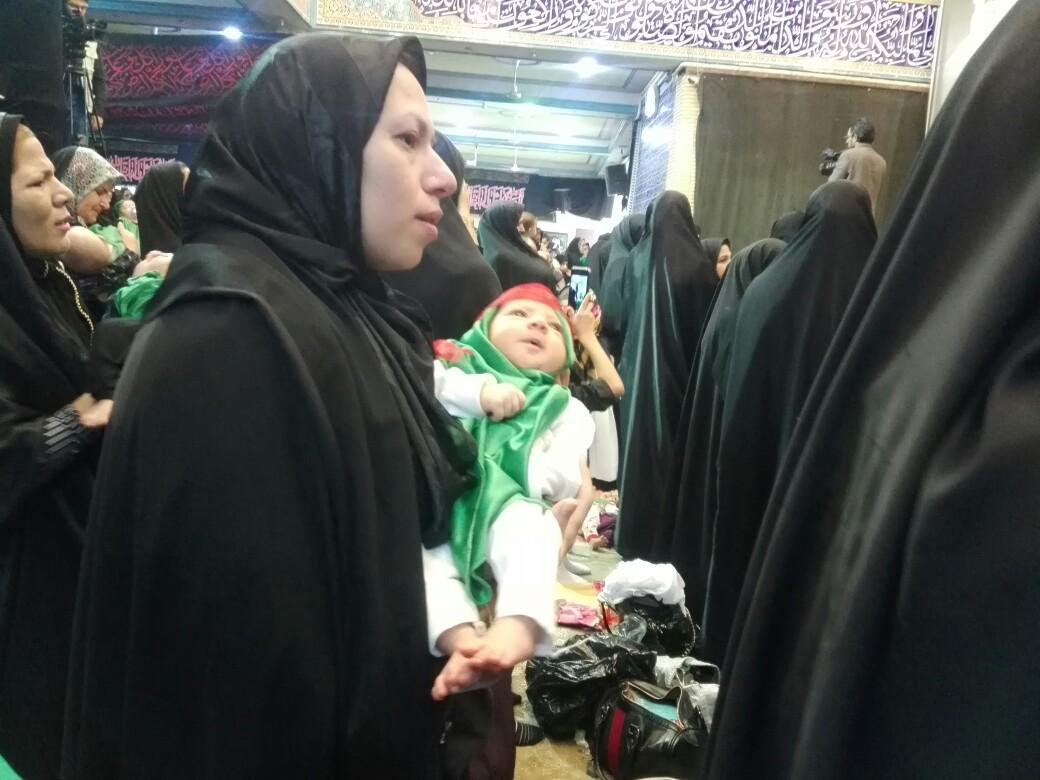 اشک و آه مادران کرمانی به یاد شیرخواره دشت کربلا