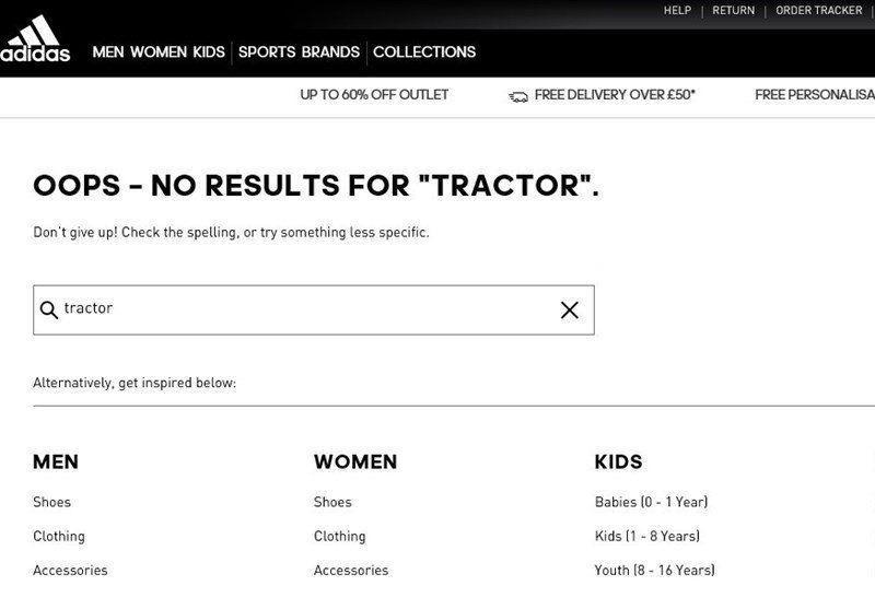 هیچ اثری از نام باشگاه تراکتور در سایت آدیداس نیست
