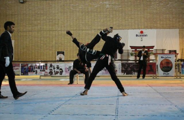 مسابقات نیمه آزاد نینجوتسو نینجا درایلام برگزار شد