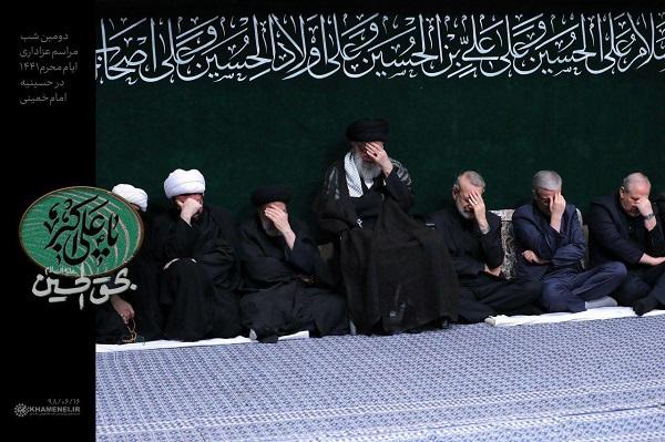 تصویری از رهبرانقلاب در دومین شب مراسم عزاداری ایام شهادت حضرت اباعبدالله الحسین علیهالسلام