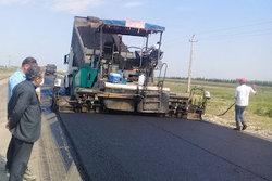 احداث و مرمت راه روستایی آجی چای-قصلان در قروه