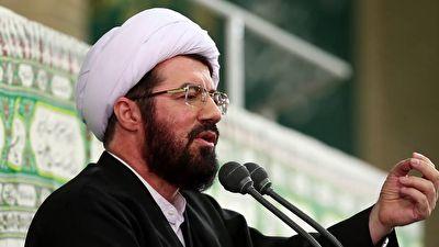 حاشیه جالب سخنرانی حجت الاسلام عالی در حضور رهبر انقلاب + فیلم