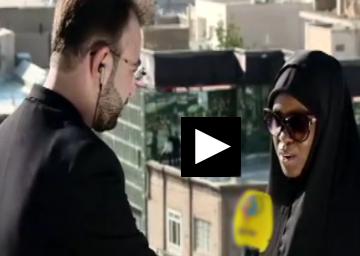 حضور دختر شیخ زکزاکی در مراسم عزاداری زنجان + فیلم