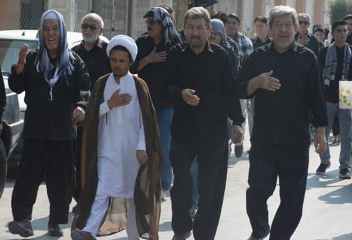 عزاداری تاسوعای حسینی در هیئت افغانستانی های مقیم پارسیان