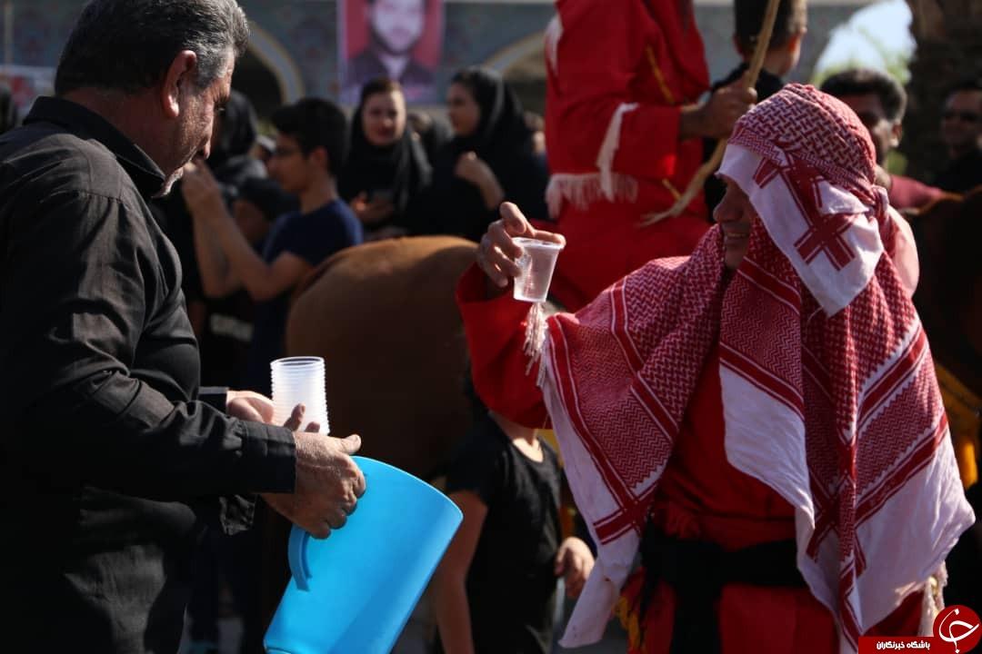 ندای یا حسین (ع) در فارس طنین انداز شد/فارس در عزای سید و سالار شهیدان به سوگ نشست + تصاویر