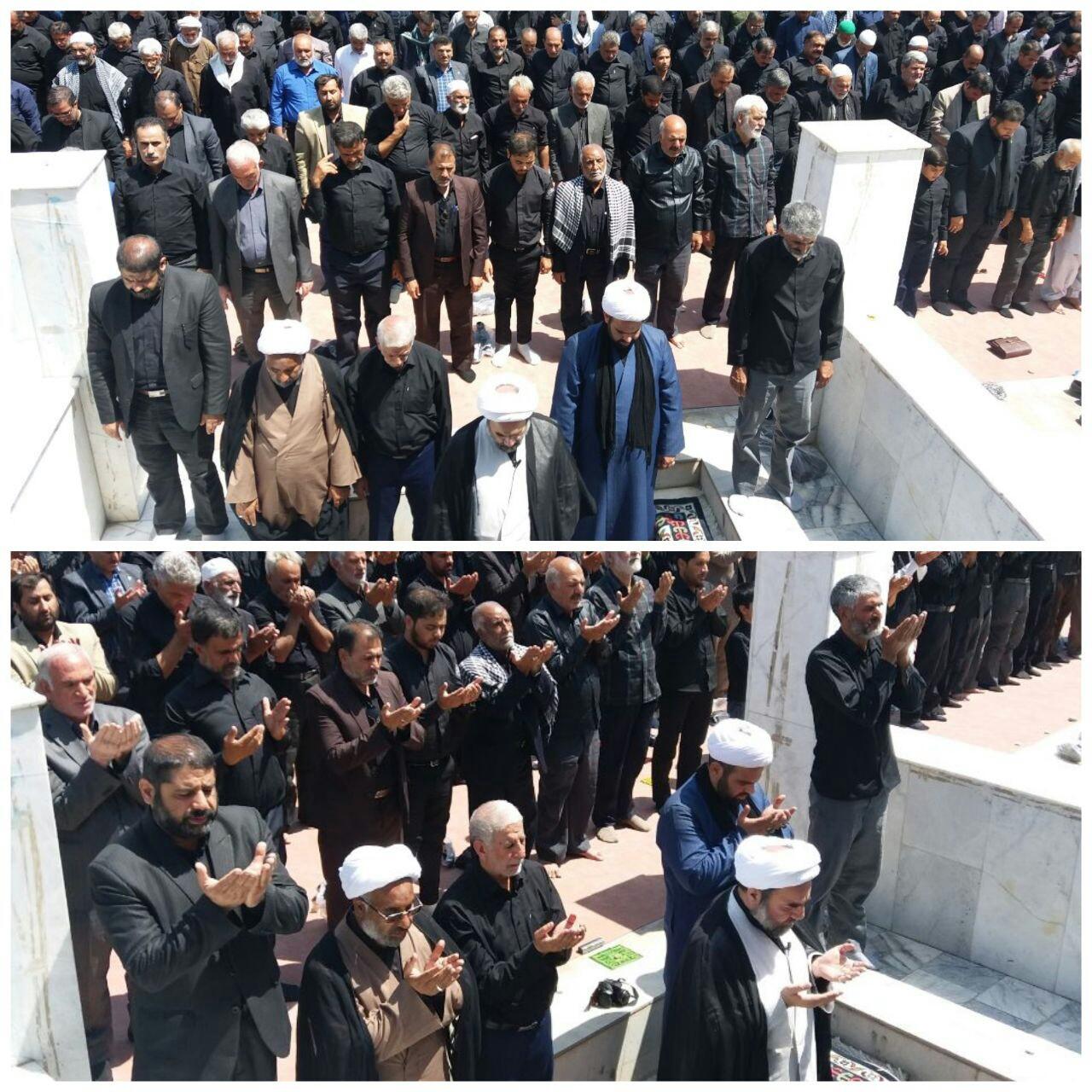 نماز ظهر عاشورا در زاهدان اقامه شد+تصاویر