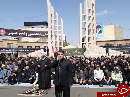 نماز ظهر عاشورا در زنجان اقامه شد