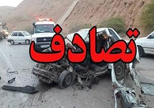 کشته و مجروح در تصادف رانندگی محور سرچم اردبیل، سه راهی روستای یانبلاغ میانه