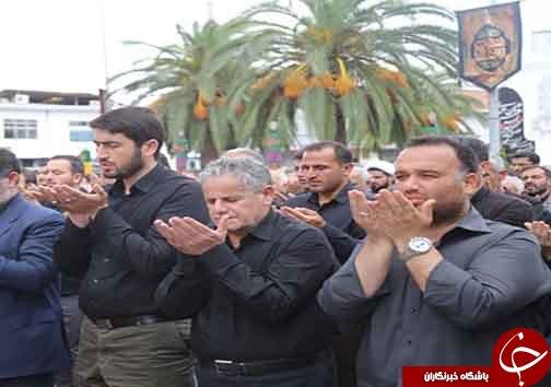 اقامه نماز ظهر عاشورا در قائم شهر+تصاویر