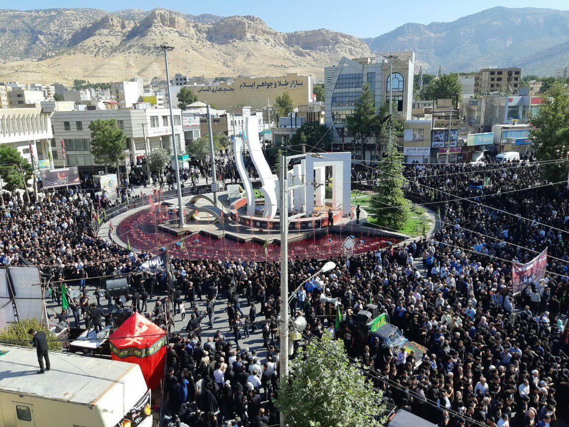 تجلی شور عزاداران شهر ایلام در روز عاشورا حسینی