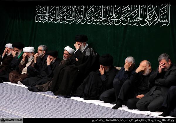 حضور مقتدی صدر و سردار سلیمانی در مراسم شام غریبان حسینیه امام خمینی + عکس