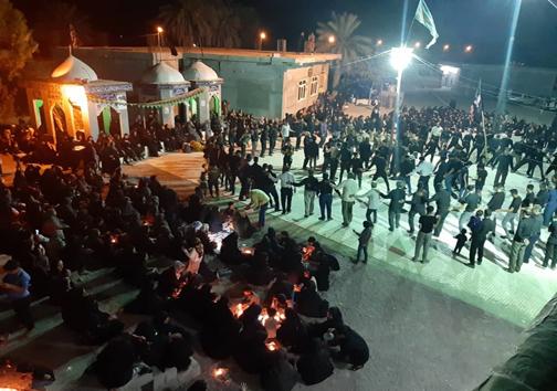 اشک ماتم عزاداران هرمزگانی در شام غریبان حسینی
