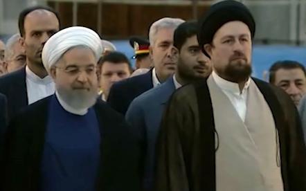 تجدید میثاق اعضای هیئت دولت با آرمانهای امام خمینی (ره) + فیلم