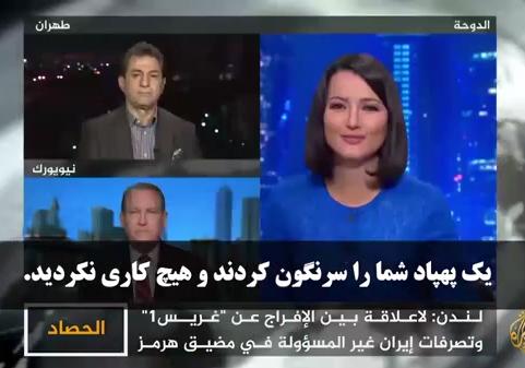 دفاع محکم مجری الجزیره از اقتدار نظامی ایران + صوت